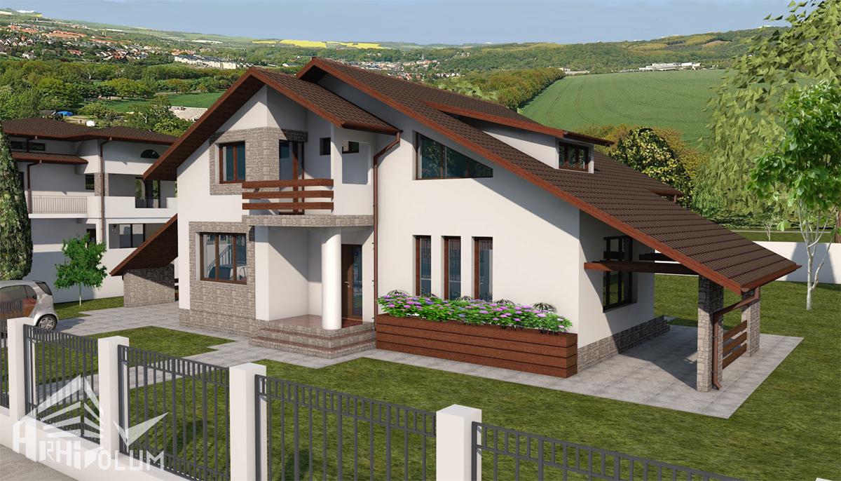 Locuinta mihaela z for Proiecte case cu etaj si terasa