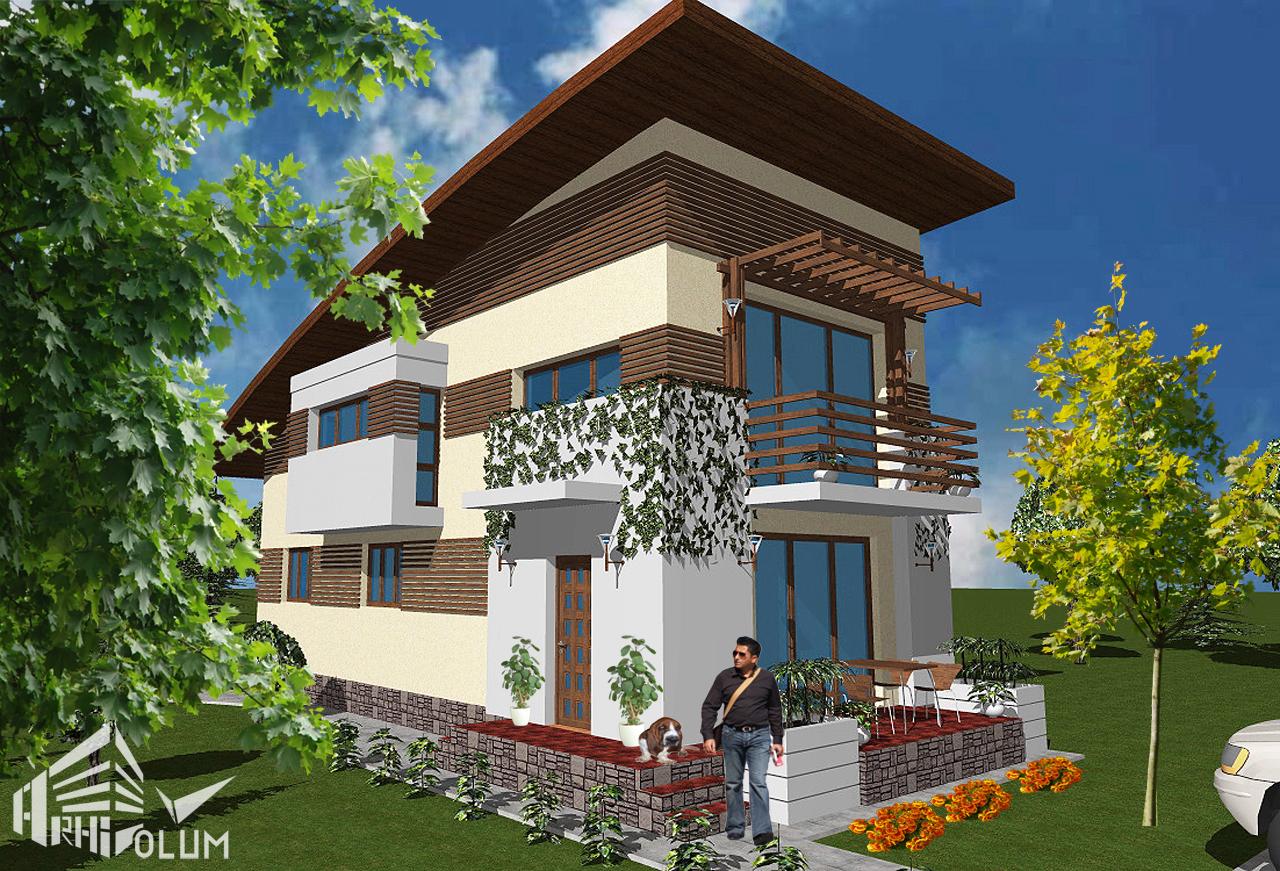 Pin proiecte case teren ingust genuardis portal on pinterest for Pinterest case moderne