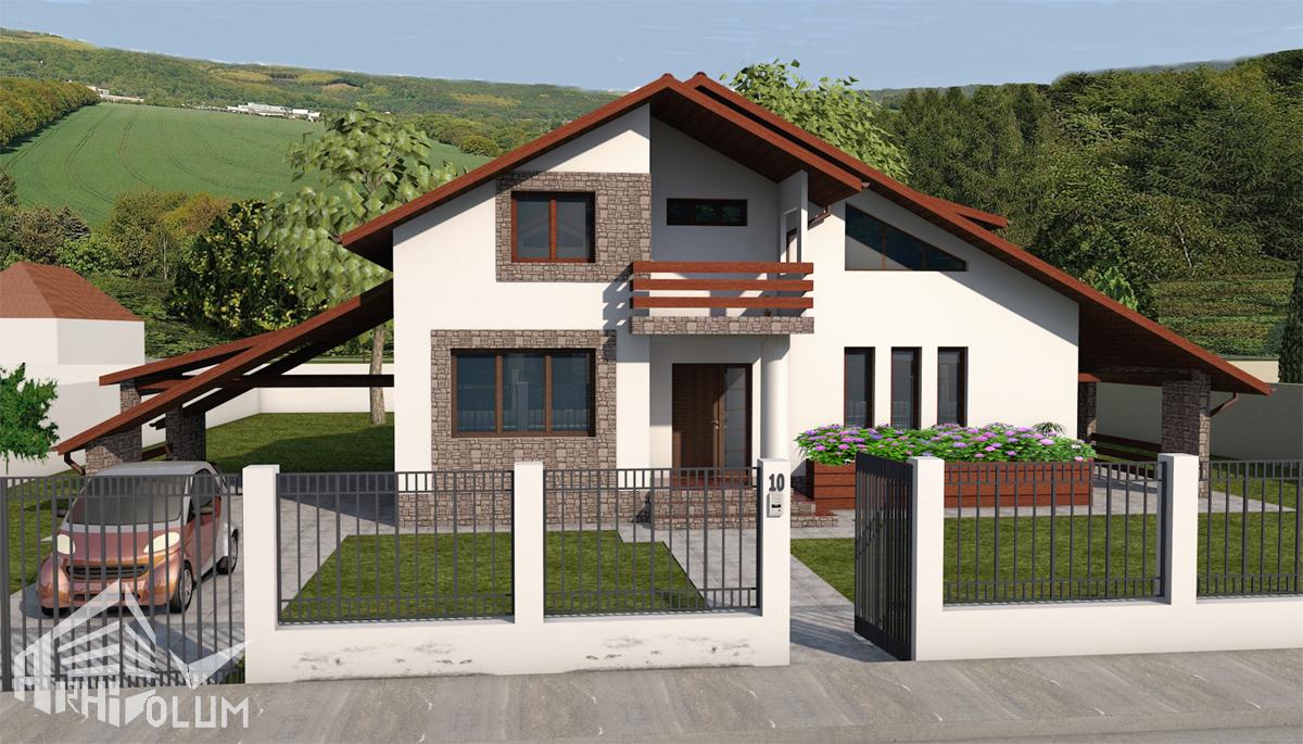 Locuinta mihaela z for Proiecte case cu mansarda 2017