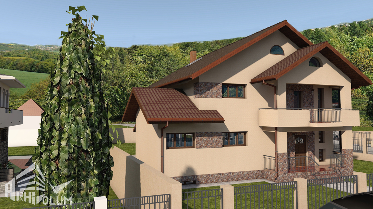 Locuinta ilie for Proiecte case cu mansarda 2017