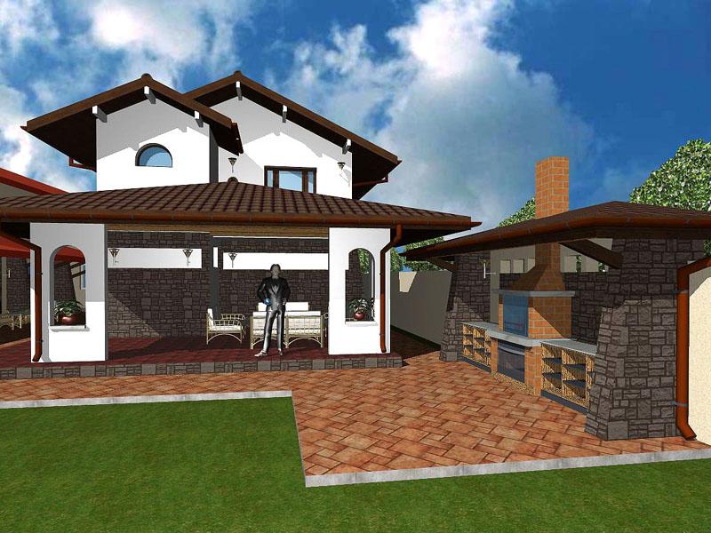 Garaj cu tereasa for Proiecte case cu garaj